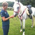 British Endurance Team member, Christine Yeoman & Midday wearing Comfort Endurance Halter Bridle, Matching Reins & Breastplate.