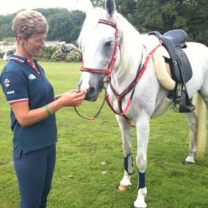British Endurance Team member, Christine Yeoman & Midday wearing Comfort Endurance Halter Bridle, Matching Reins & Breastplate.